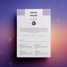 Modern Resume Template / CV Template + Cover Letter | Professional and Creative Resume | Teacher Resume | Word Resume | Instant Download by TemplatesKingdom on Etsy