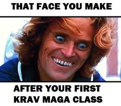 That face you make after your first Krav Maga class | Mada Krav Maga in Shelby Township, MI teaches realistic hand to hand combat that uses the quickest methods to attack the weakest and most vital targets of both armed and unarmed assailants! Visit our website www.madakravmaga.com or call (586) 745-1171 for more details!