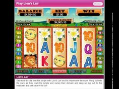 http://lasvegashotelsonlinecasinos.com Play with a $100 No deposit casino bonus @ http://www.slotsofvegas.eu/click/15/1212/4054/1     The king of the jungle lives the charmed life indeed - lazing in the warm sun, admiring the wild beauty of the African landscape. But, this king has a hidden treasure, buried deep in his Lion's Lair.    Take a safari ...