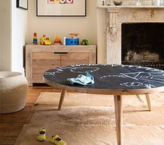 1000+ ideas about Chalkboard Table on Pinterest | Table and chair ...