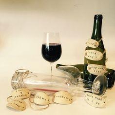 3 Wine bottle tags, wine tags, bottle gift, bottle label, ceramic wine tag, bottle neck tag, wine gift label, wine present, wine bottle tags by RJPotteryshop on Etsy https://www.etsy.com/uk/listing/532457194/3-wine-bottle-tags-wine-tags-bottle-gift