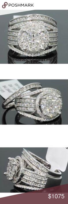 Amazing 2.40 carat 10k white gold diamond ring set Amazing 2.40 carat 10k white gold diamond ring set Jewelry Rings