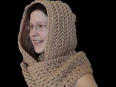 ▶ How to crochet a scoodie hooded scarf - YouTube