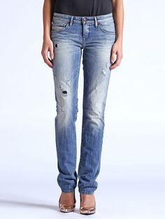 DIESEL MyBoy 0823V Ripped Slim Straight JEANS size W28 L32 32  Waist Damen Hose