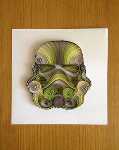 Quilled Star Wars art--Storm Trooper Helmet (small)
