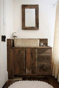 #wood #mirror #bathrooms #home #homes  www.miaaw.com