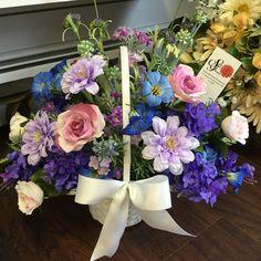 Spring basket design by Andi at Silk Florals 2017