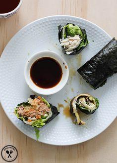 Rice-free Paleo Nori Rolls PLUS Three Healthy Filling Ideas