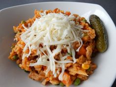 Easy Cooking, Cooking Recipes, Cabbage, Spaghetti, Food And Drink, Vegetables, Ethnic Recipes, Risotto, Italian Dishes