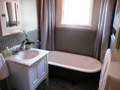 bathroom: grey beadboard