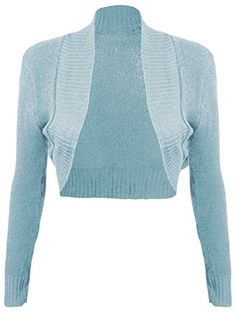 Women's Shrug Sweaters - Thever Women Ladies Long Sleeve Knitted Shrug Cardigan Bolero Crop Top One Sz 612 ** Check out this great product. Knit Shrug, Shrug Cardigan, Sweaters And Leggings, Sweater Coats, Women's Sweaters, Crop Top Blanc, Sweater Fashion, Pulls, Sweaters For Women