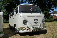 Looking for wedding cars in Ealing? Wedding Car Hire, Wedding Company, Tiny Camper, Vw Camper, White Vans, Civil Ceremony, London Wedding, Campervan, Surrey