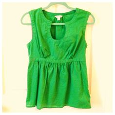 Banana Republic green top! Only worn a few times! Banana Republic Tops
