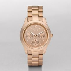 Gia Rose Gold-Tone Multifunction Watch