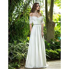 une ligne robe hors de l'épaule-parole longueur mariage de mousseline de soie (722 143) - EUR € 136.36