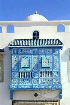 Tunisia, architectural detail in Nabeul : Stock Photo Vernacular Architecture, Islamic Architecture, Beautiful Architecture, Art And Architecture, Architecture Details, Patio Azul, Little Boy Blue, Moorish, North Africa