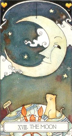 Ceci Tarot -- the Moon