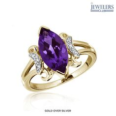 Genuine Amethyst & Diamond Accent Marquise Molto Viola Ring - Assorted Finishes at Savings off Retail! Amethyst, Sapphire, Heart Ring, Fine Jewelry, Stones, It Is Finished, Gems, Retail, Diamond