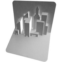 Skyline Pop Up Card. click on link for free video tutorial and template. http://www.popupology.co.uk/galleries/2/items/103
