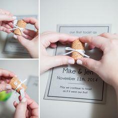 DIY Wedding // how to make a cork keepsake frame + free printable!