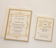 You want a wedding event invitation to complement the overall style and state of mind of the wedding. Is your wedding event official or casual? A formal wedding may need classic script fonts, official wording, and the standard double envelope. Destination Wedding Invitations, Gold Invitations, Vintage Wedding Invitations, Invitation Envelopes, Wedding Invitation Wording, Elegant Wedding Invitations, Wedding Planning, Invite, Wedding Ideas