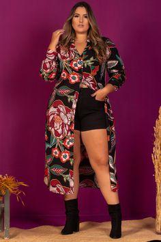Cropped Plus Size, Looks Plus Size, Moda Plus Size, Curvy, Kimono Top, Costa, Tops, Women, Fashion