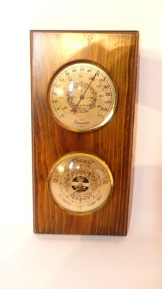 Vintage Wuersch Fall River Barometer/Thermostat