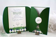 Golf Party Invitations Golf event Sports party Golf by SDezigns Golf Party, Sports Party, Golf Invitation, Party Invitations, Party Favors, Golfball, Golf Card Game, Golf Ball Crafts, Golf Outing
