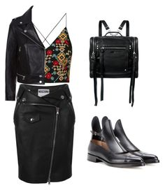 """Без названия #28"" by natozurabovna ❤ liked on Polyvore featuring Topshop, Sandro, McQ by Alexander McQueen, Francesco Russo, Moschino, AlexanderMcQueen, topshop, FrancescoRusso and SandroVega"