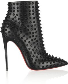 Christian Louboutin Snakilta 120 spiked leather ankle boots