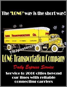 1930′s Long Transportation Company – Vintage Long Haul Transport Trucking