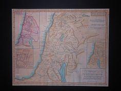 Holy Land Palestine Palestine Jerusalem 12 Tribes Israel 1797 Map Reprint | eBay