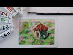 Studio Ghibli, Fine Art Paper, Castle, Gallery Wall, Scene, Garden, Frame, Youtube, Painting