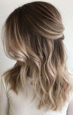 Balayage Hair Blonde, Brown Blonde Hair, Brunette Hair, Balayage Color, Winter Blonde Hair, Medium Blonde Hair, Sandy Blonde, Brunette Highlights, Beige Blonde