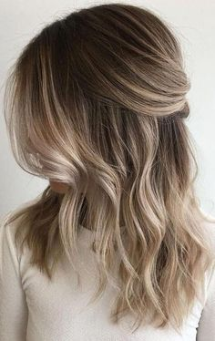 Blonde Hair With Highlights, Balayage Hair Blonde, Brown Blonde Hair, Brunette Hair, Balayage Color, Winter Blonde Hair, Sandy Blonde, Brunette Highlights, Beige Blonde