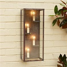 Very neat outdoor wall lighting. Perfect next to the door or a few around the porch.