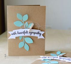 Virtual Smooches: Sympathy CAS card set (pinterest inspired) with Savannah O'Gwynn