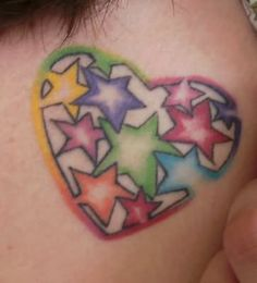 stars in a heart tattoo | Star Heart Friendship Tattoo