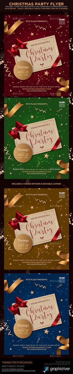 #Christmas Party #Flyers - Holidays Events