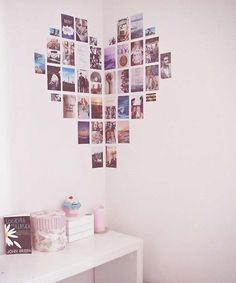 DIY San Valentino foto disposte a cuore