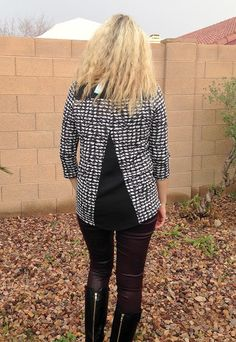 http://www.arizonarenaissancewoman.com/2016/01/stitch-fix-16-review-january-2016.html Papermoon Endicott Woven Dobby Back Knit Top - Stitch Fix #16 Review - January 2016