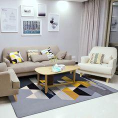 Liu простой современная мода Nordic гостиная ковер спальни кровати полный мягкие коралловые бархат Коврик Прямоугольный Диван, журнальный столик коврик