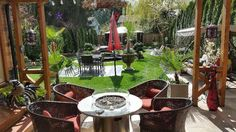 Contemporary Home Patio and Back Garden