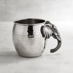 Elephant Stainless Steel Moscow Mule Mug Silver