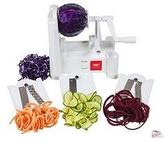 Paderno World Cuisine Tri-Blade Plastic Spiral Vegetable Slicer Peeling Kitchen #PadernoWorldCuisine
