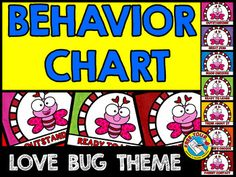 VALENTINE'S DAY BEHAVIOR CLIP CHART FEATURING LOVE BUGS  Monitor each child's behavior in your class by using this fun Valentine's Day themed behavior clip chart. A great behavior management tool to encourage kids to stay on their best behavior!  Simply print, laminate and tape/attach all the sections together vertically. Place clothes pins with each child's name on 'READY TO LEARN'. Move the pins up or down according to each child's behavior.