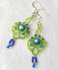 Green and blue earrings | This is my own design idea. It's b… | Flickr