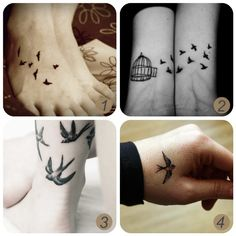 Oh les belles choses: Inspiration: tatouages d'oiseaux + tatouages temporaires bricolage