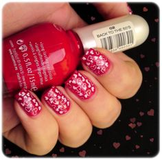 Valentine nails. I have to get me one of those stamping things for nails. Any recommendations?