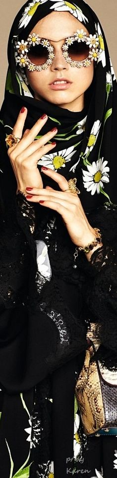 Dolce & Gabbana's Embellished Hijabs and Abayas Are Great News for Muslim…Abayas Are Great News for Muslim…✖️Fosterginger.Pinterest.Com✖️No Pin Limits✖️More Pins Like This One At FOSTERGINGER @ Pinterest WOMEN'S FASHION :  NIQAB ,نِقاب , ABAYA ,